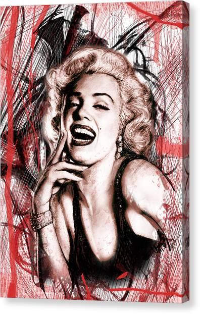 Marilyn Monroe Canvas Print - Marilyn Monroe Art Long Drawing Sketch Poster by Kim Wang