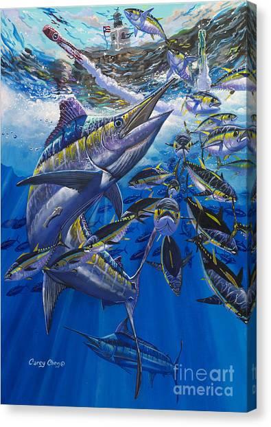 Tuna Canvas Print - Marlin El Morro by Carey Chen