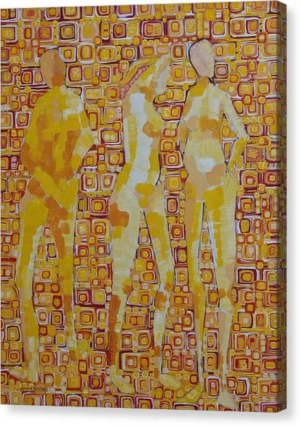 Mary Gestured Thrice Canvas Print