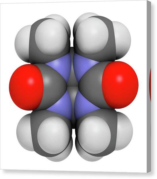 Mebicar Anxiolytic Drug Molecule Canvas Print by Molekuul