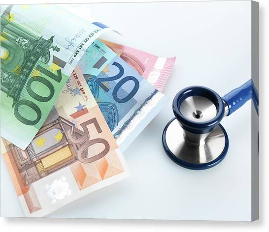 Currency Canvas Print - Medical Costs by Tek Image