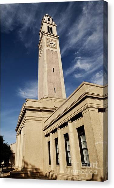 Louisiana State University Lsu Canvas Print - Memorial Tower - Lsu by Scott Pellegrin