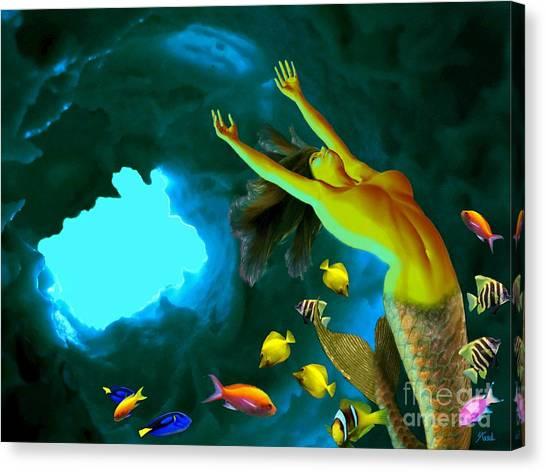 Mermaid Cave Canvas Print