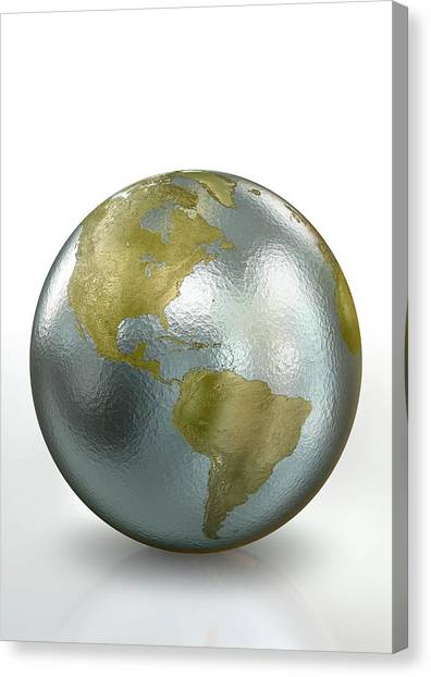 Metallic Earth Canvas Print by Animated Healthcare Ltd/science Photo Library
