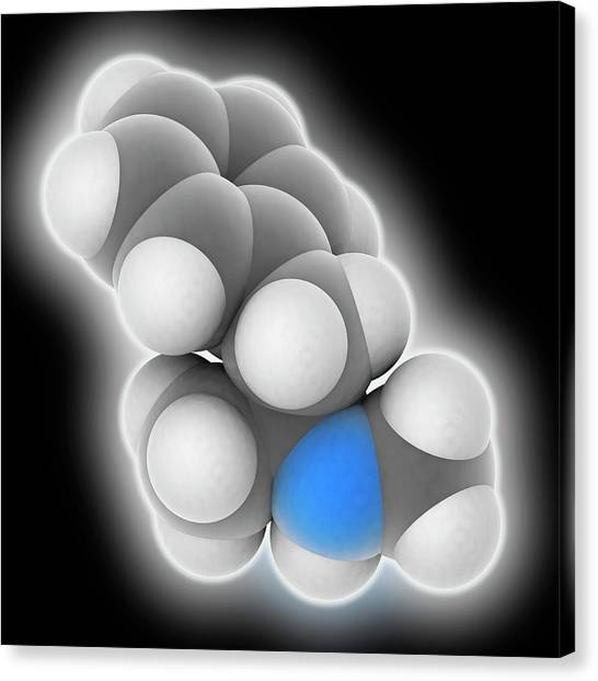 Methamphetamine Drug Molecule Canvas Print by Laguna Design
