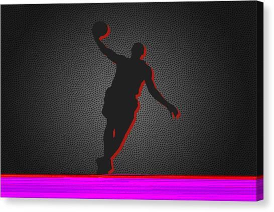 Lebron James Canvas Print - Miami Heat by Joe Hamilton