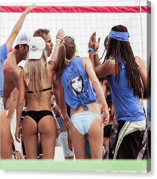 Volleyball Canvas Print - #miami #models #beach #volleyball Day by Maria Lankina