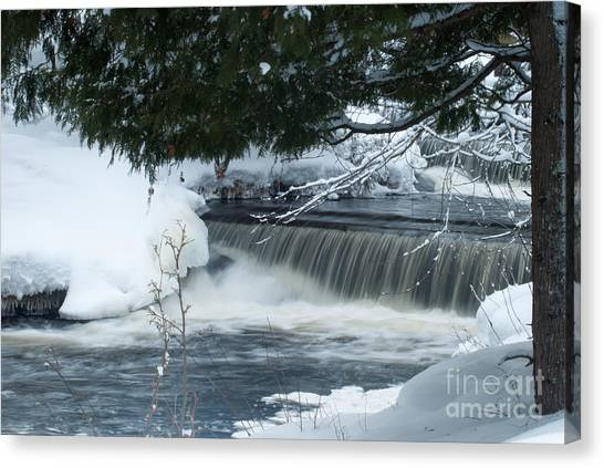 Canopy Canvas Print - Middle Mini Bond Falls by Optical Playground By MP Ray