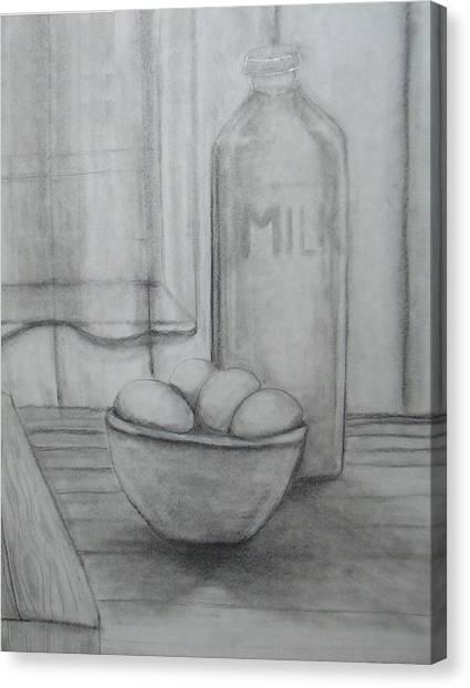 Milk And Eggs Canvas Print