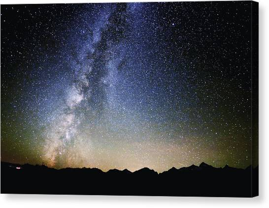 Milky Way At The Tetons Canvas Print