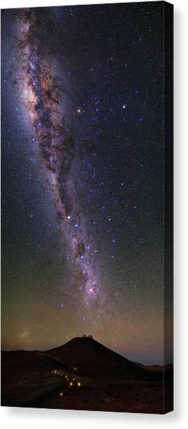 Atacama Desert Canvas Print - Milky Way Over Paranal Observatory by Babak Tafreshi