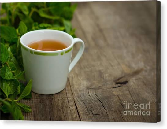 Sweet Tea Canvas Print - Mint Tea by Aged Pixel