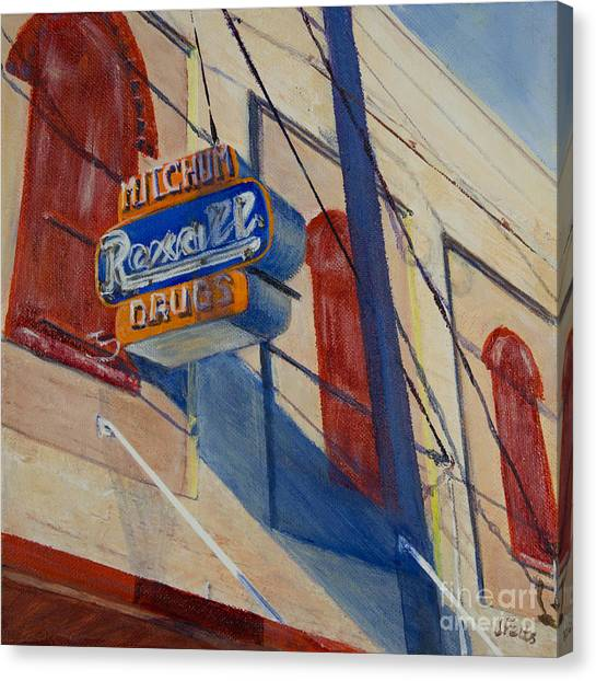 Ohio Valley Canvas Print - Mitchum's Drug Store by Janet Felts