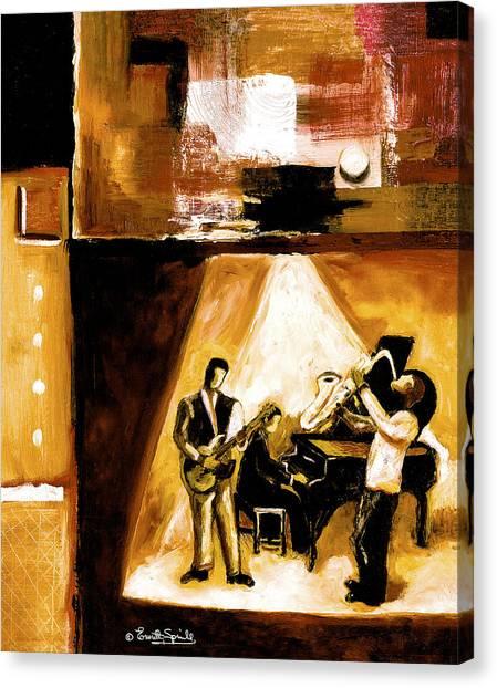 Frank Stella Canvas Print - Modern Jazz Number One by Everett Spruill