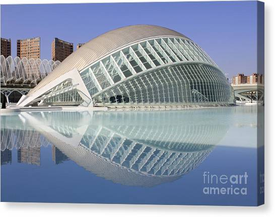 The Hemisferic In Valencia Spain Canvas Print