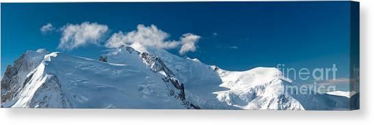 Mont Blanc Massiv Canvas Print