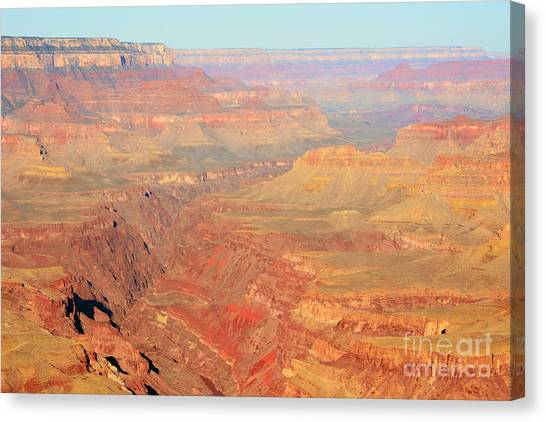 Morning Colors Of The Grand Canyon Inner Gorge Canvas Print