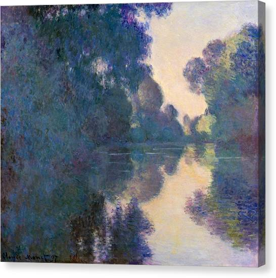 The Metropolitan Museum Of Art Canvas Print - Morning On The Seine by Claude Monet