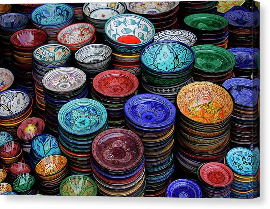 Ceramic Glazes Canvas Print - Morocco, Marrakech by Kymri Wilt