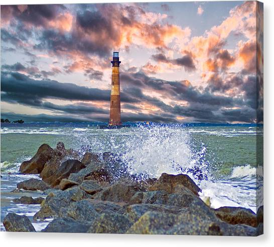 Morris Island Lighthouse Canvas Print