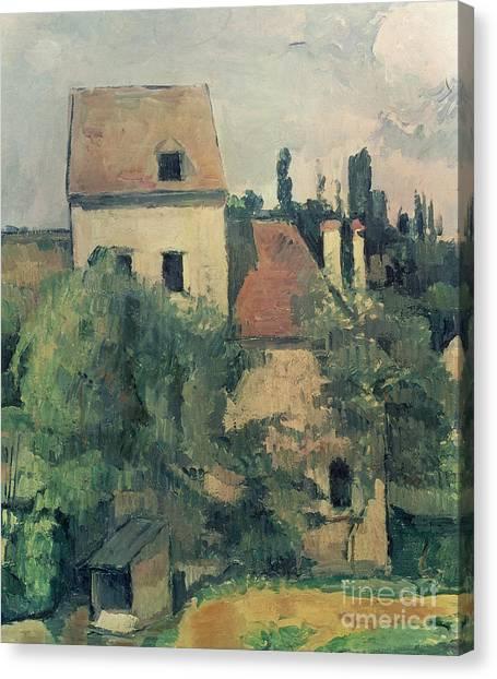 Post-impressionism Canvas Print - Moulin De La Couleuvre At Pontoise by Paul Cezanne