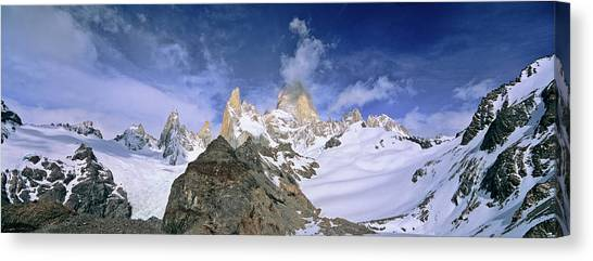 Andes Mountains Canvas Print - Mount Fitz Roy Seen From Laguna De Los by Martin Zwick