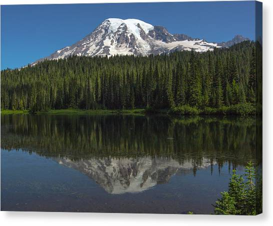 Mount Rainier From Reflection Lake Canvas Print