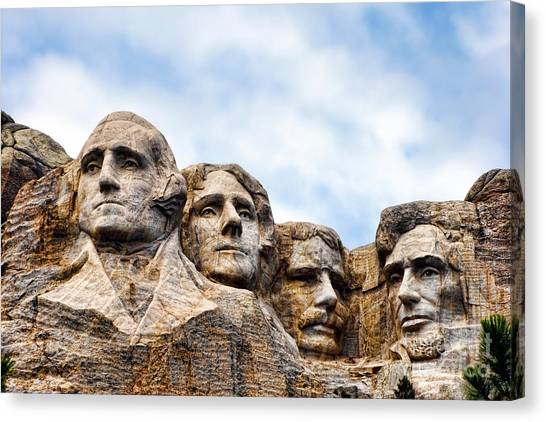 South Dakota Canvas Print - Mount Rushmore Monument by Olivier Le Queinec