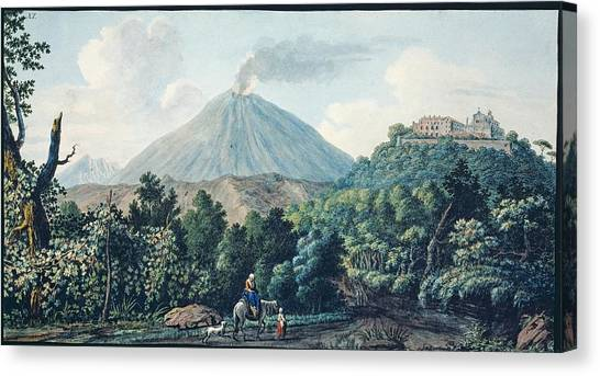 Mount Vesuvius Canvas Print - Mount Vesuvius by Natural History Museum, London/science Photo Library