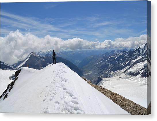 Pasterze Glacier Canvas Print - Mountains Austrian Alps-glacier by Zdenka Otipkova