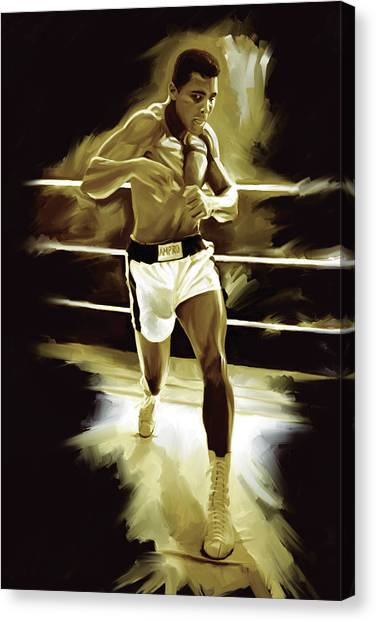 Muhammad Ali Canvas Print - Muhammad Ali Boxing Artwork by Sheraz A