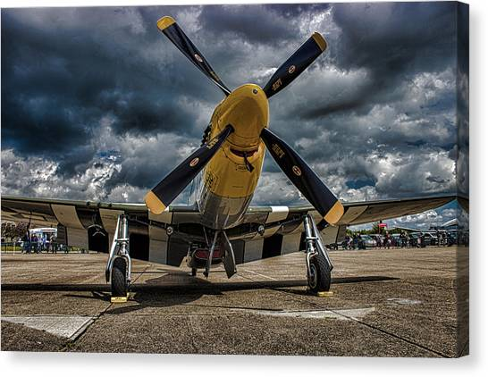 Cockpits Canvas Print - Mustang by Martin Newman