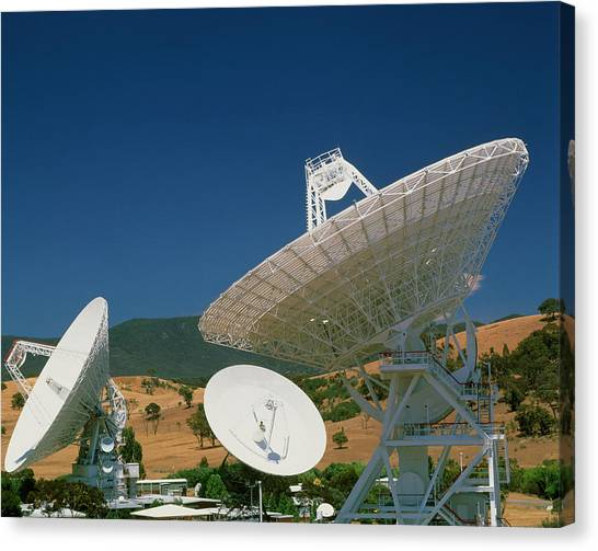 Canberra Canvas Print - Nasa Deep Space Tracking Station by David Nunuk/science Photo Library