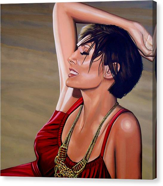 Coca Cola Canvas Print - Natalie Imbruglia Painting by Paul Meijering