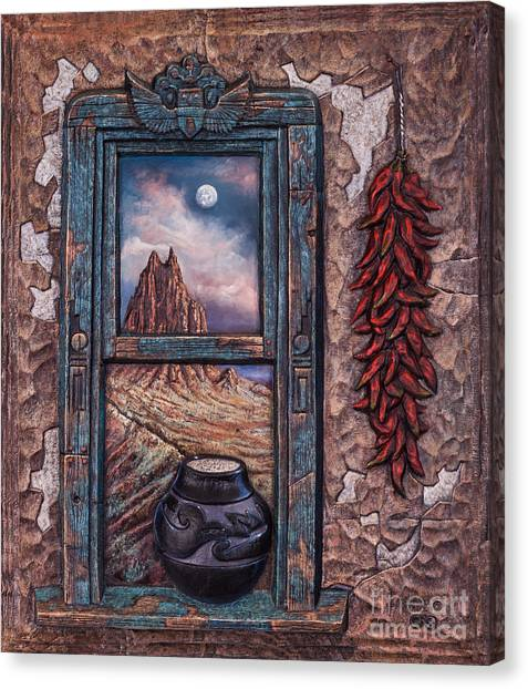 Nm Canvas Print - New Mexico Window by Ricardo Chavez-Mendez