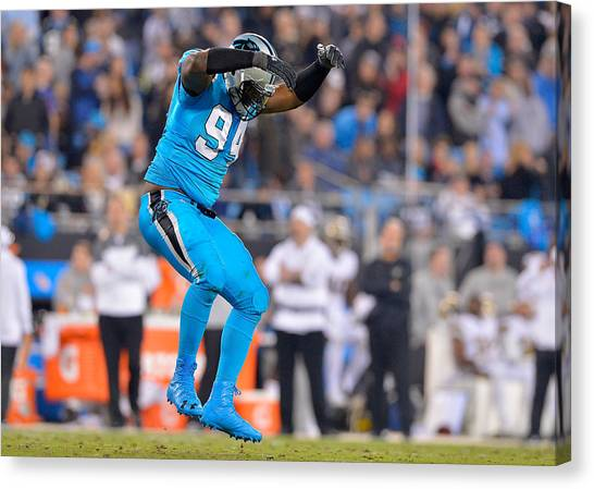 New Orleans Saints V Carolina Panthers Canvas Print by Grant Halverson