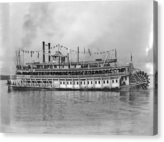 New Orleans Steamboat Canvas Print by Granger
