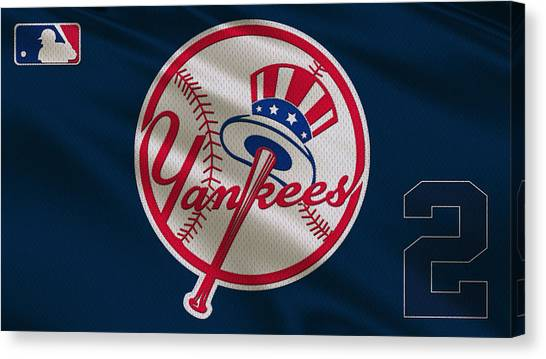 New York Yankees Canvas Print - New York Yankees Derek Jeter by Joe Hamilton