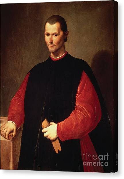 Political Science Canvas Print - Niccolo Machiavelli, Italian Writer by Photo Researchers