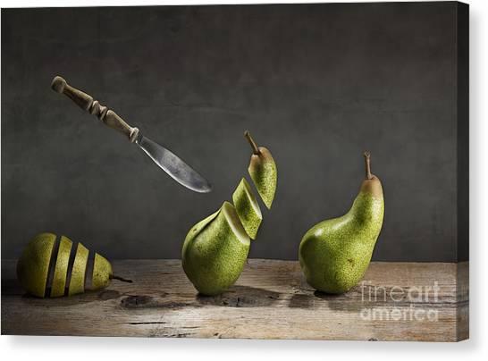 Pears Canvas Print - No Escape by Nailia Schwarz