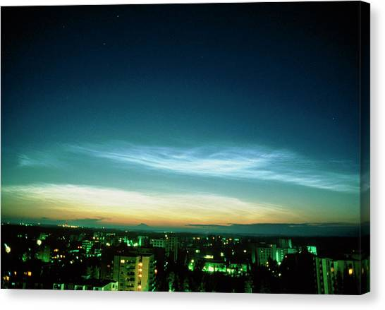 Noctilucent Clouds Canvas Print by Pekka Parviainen/science Photo Library