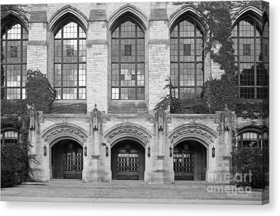 Northwestern University Canvas Print - Northwestern University Deering Library by University Icons