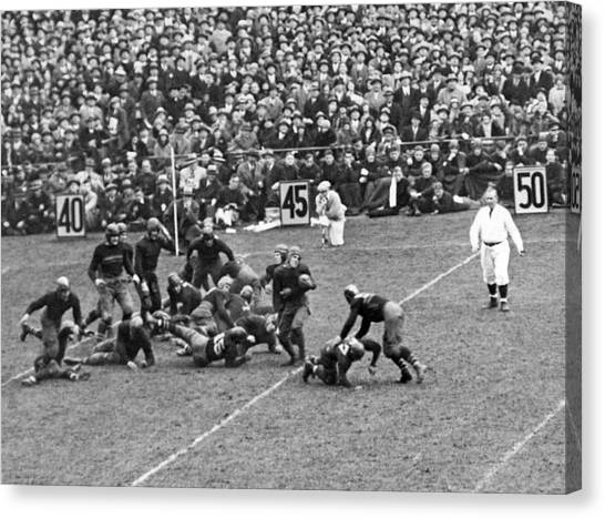 Yankee Stadium Canvas Print - Notre Dame-army Football Game by Underwood Archives