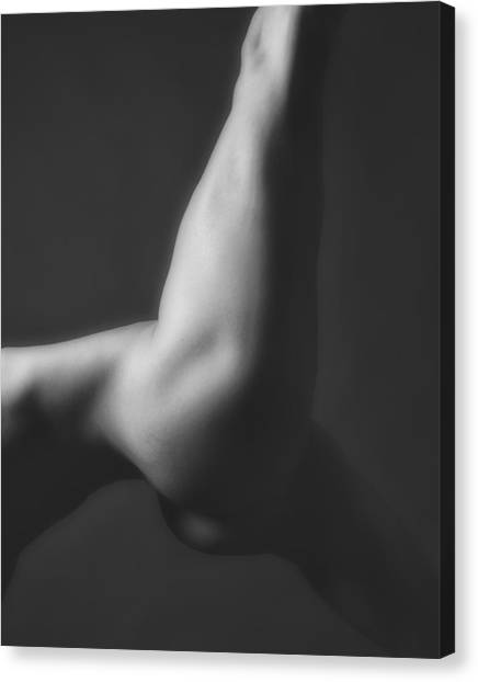 Nude Yoga Canvas Print