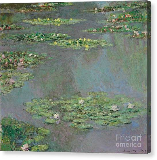 Lilies Canvas Print - Nympheas by Claude Monet