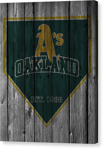 Oakland Athletics Canvas Print - Oakland Athletics by Joe Hamilton