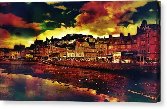 Bands Canvas Print - Oban In Scotland by Chris Drake