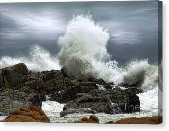 Canvas Print featuring the photograph Tidal Leap by Glenda Wright