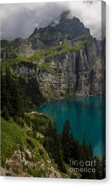 Oeschinensee - Swiss Alps - Switzerland Canvas Print