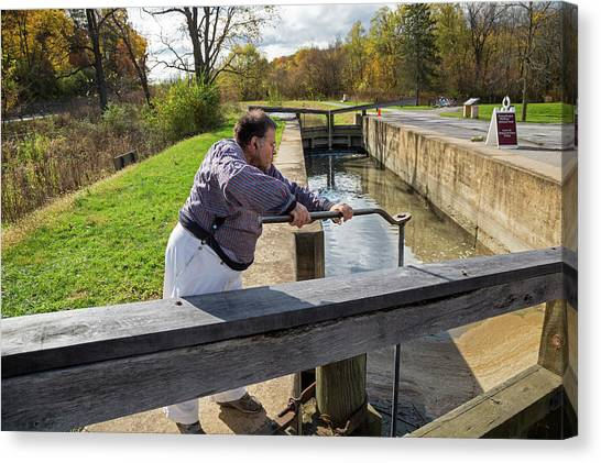Ohio Valley Canvas Print - Ohio And Erie Canal by Jim West
